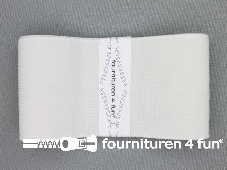 Band elastiek 70mm stevig wit 1 meter