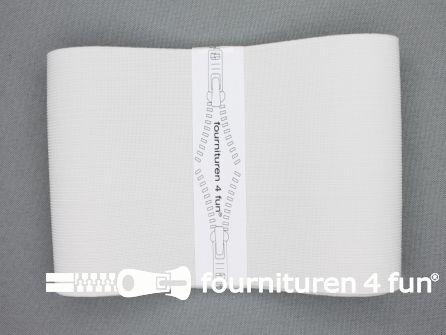 Band elastiek 100mm stevig wit 1 meter