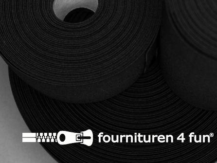 Band elastiek 15mm stevig rol zwart 50 meter