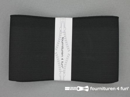 Band elastiek 80mm stevig zwart 1 meter