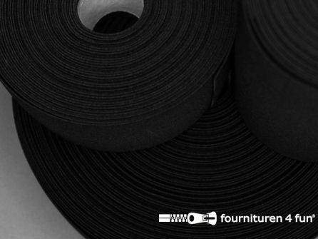 Band elastiek 80mm stevig rol zwart 10 meter
