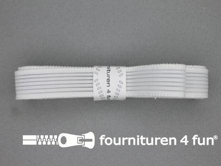 Rimpel elastiek 19mm wit
