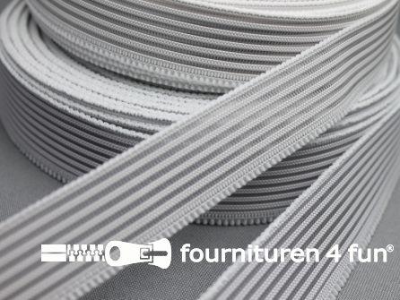 Rol 25 meter rimpel elastiek 19mm wit