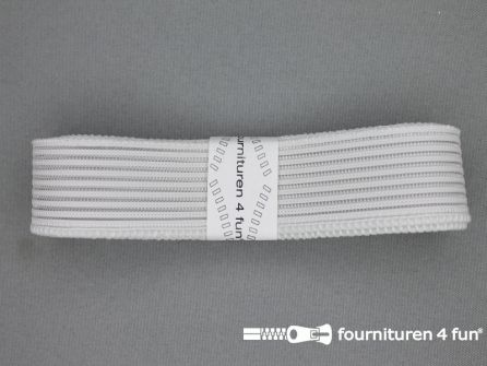 Rimpel elastiek 30mm wit