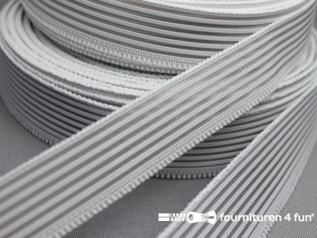 Rol 25 meter rimpel elastiek 30mm wit
