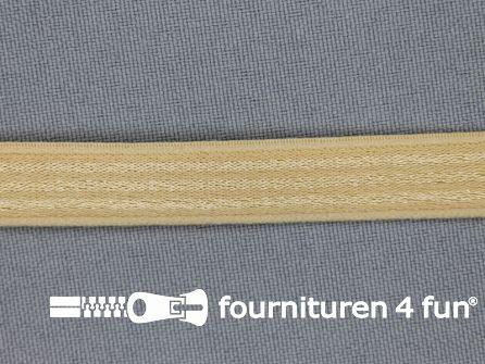 Schouderband elastiek 12mm beige