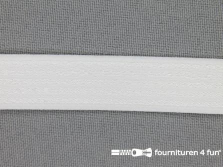 Schouderband elastiek 15mm wit