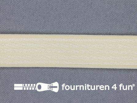 Schouderband elastiek 15mm beige