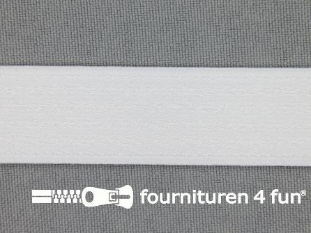 Schouderband elastiek 19mm wit
