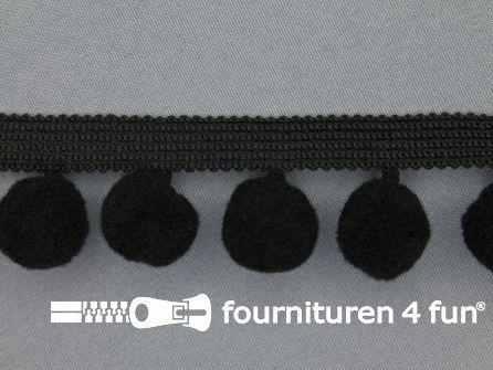 Bolletjesband 40mm zwart