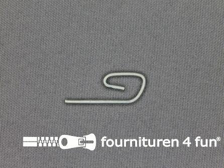 Mono haken 30mm zilver 20 stuks