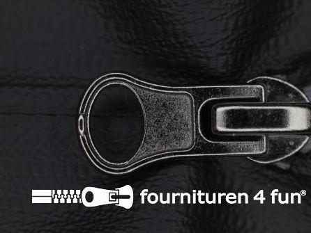 Deelbare waterproof rits 7mm zwart