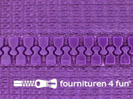 Niet deelbare bloktand rits 6mm paars