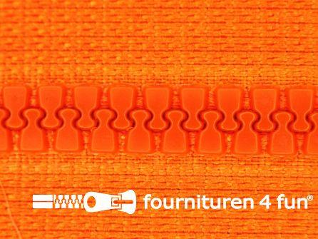 Deelbare bloktand rits 6mm oranje