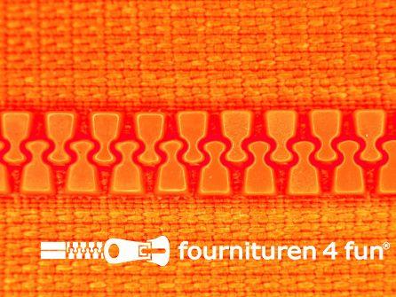 Deelbare bloktand rits 6mm neon oranje