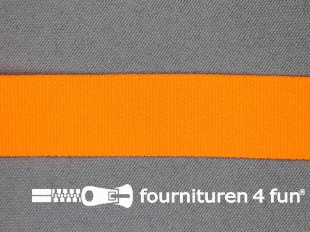 Nylon keperband 20mm neon oranje