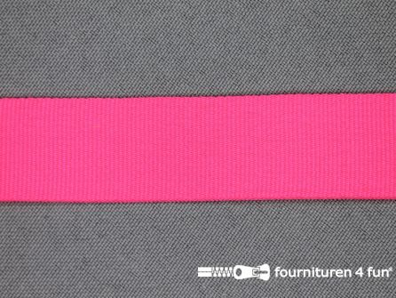 Nylon keperband 20mm neon roze