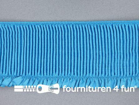 Boordelastiek 60mm aqua blauw
