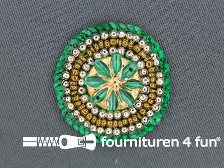 Broche 40mm emerald groen