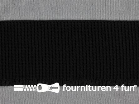 Boordelastiek 60mm zwart
