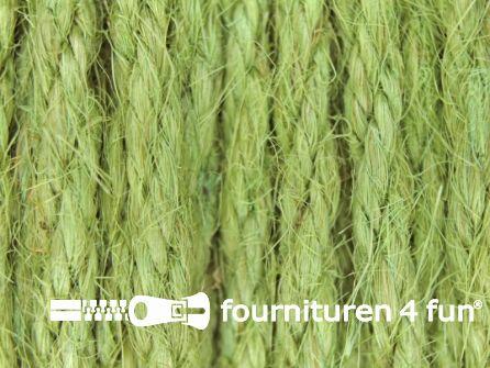 Jute koord 4mm antiek-olijf groen