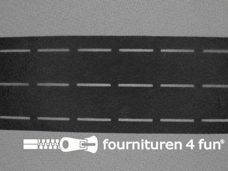Stansband/Plak-en-vouw-om/Perfoband 25mm zwart