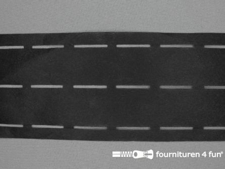 Stansband/ Plak-en-vouw-om/Perfoband 30mm zwart