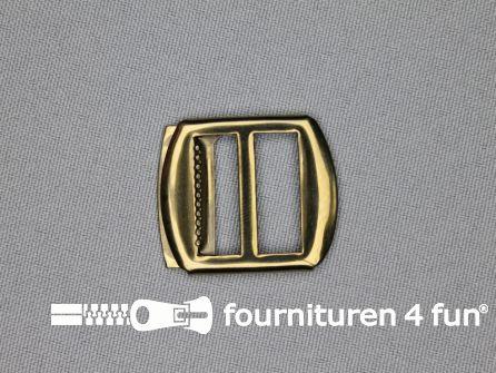 Gilet gesp 20mm geel brons