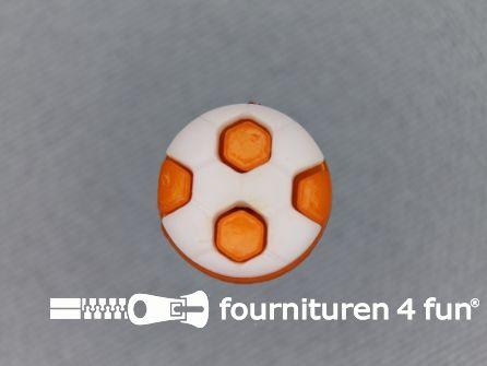 Kinder knoop 13mm voetbal oranje