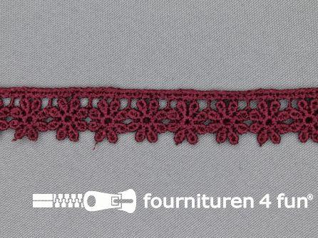 Bloemenkant 18mm bordeaux rood