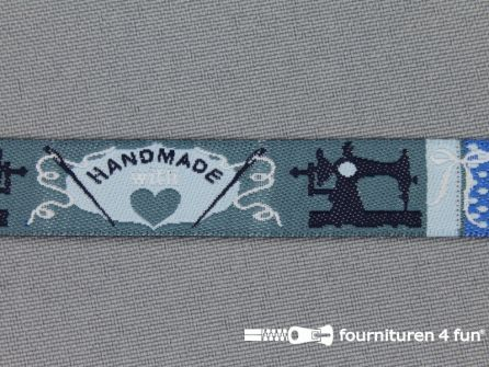 Kinderband 14mm handmade blauw