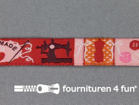 Kinderband 14mm handmade rood