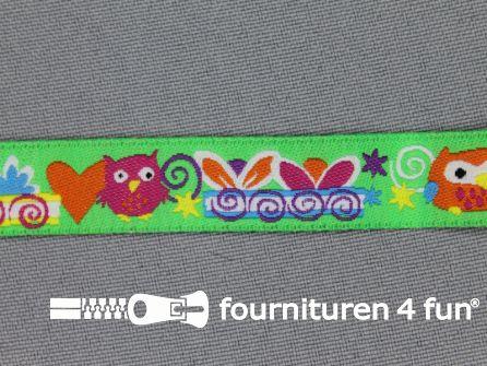Kinderband 14mm uitljes groen