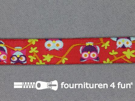 Kinderband 14mm uiltjes rood