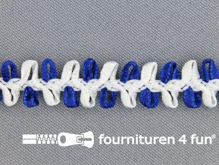 Muizentand band 15mm wit - marine blauw