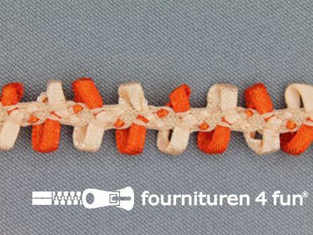 Muizentand band 15mm zalm - oranje