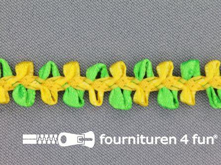 Muizentand band 15mm geel - groen