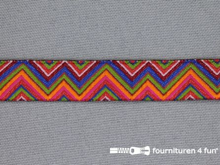 Indianenband 14mm zigzag multicolor