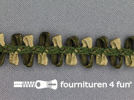 Muizentand band 15mm olijf groen