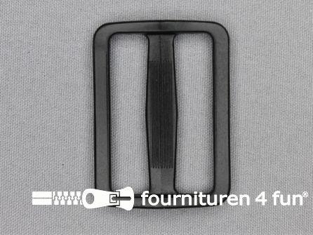 Schuifgesp 50mm zwart kunststof