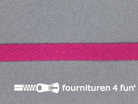 Nylon keperband 10mm fuchsia roze
