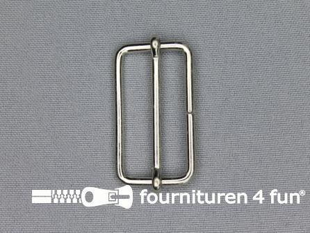 Schuifgesp 35mm zilver