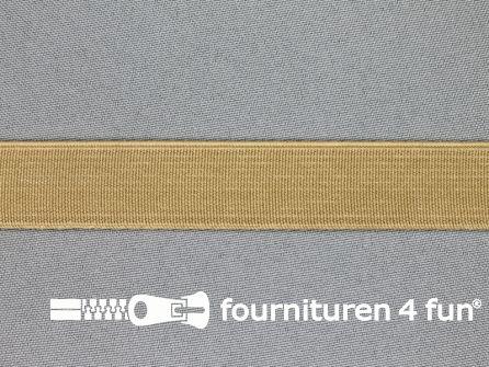 Gekleurd stevig elastiek 20mm beige