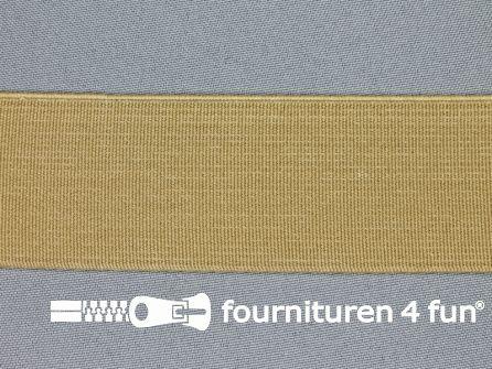 Gekleurd stevig elastiek 40mm beige