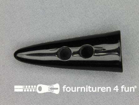 Houtje touwtje knoop 47mm kunststof zwart