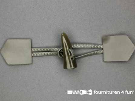 Skai houtje touwtje 45x180mm taupe grijs