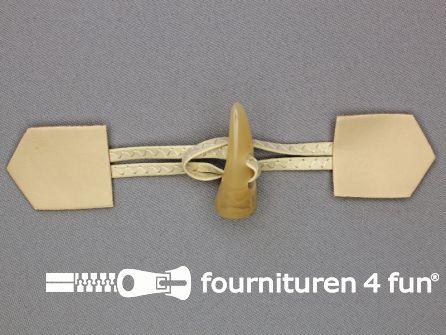 Skai houtje touwtje 45x180mm beige