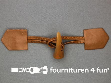 Skai houtje touwtje 45x180mm camel