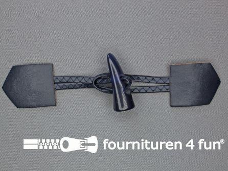 Skai houtje touwtje 45x180mm marine blauw