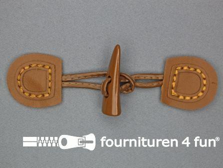 Skai houtje touwtje 50x150mm camel